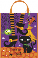 Large Spooky Witch Boots Halloween Tote Bag